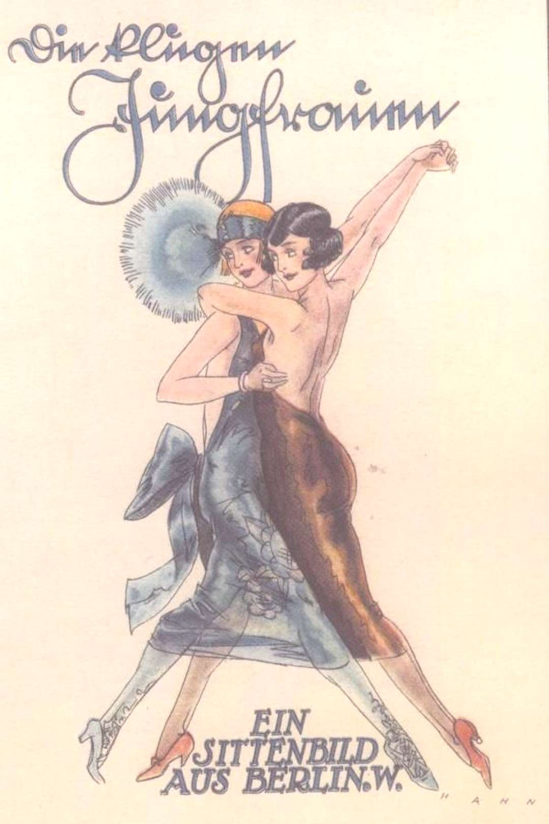 1920s German Cabaret Poster. Cabaret defined the period in Berlin in many remembrances