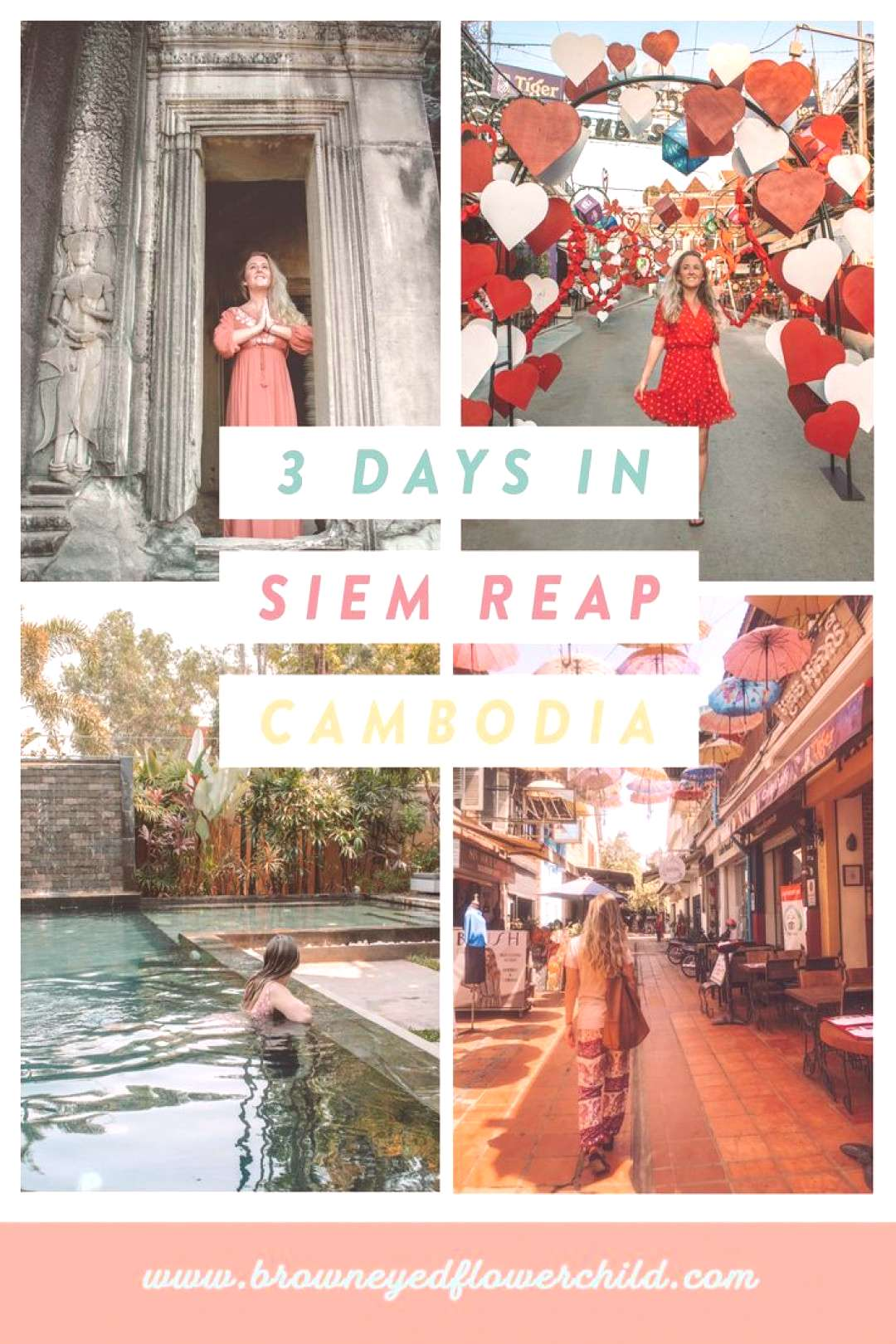 3 Days in Siem Reap, Cambodia - Brown Eyed Flower Child A 3-day itinerary for Siem Reap, Cambodia.