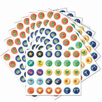 Additional Reusable Window Cling Stickers (12 Pack) - for