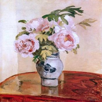 Art Oyster Camille Pissarro Pink Peonies - 20