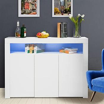Buffet Sideboard, Modern High Gloss Sideboards, 16 Colors