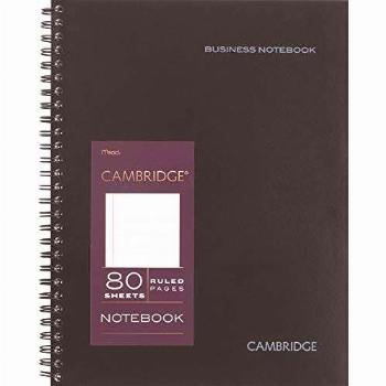 Cambridge Limited Professional Spiral Notebook NEW BUSINESS