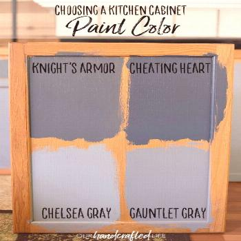 Choosing a Kitchen Cabinet Paint Color - Our Handcrafted Life    Of course, the popular choice righ