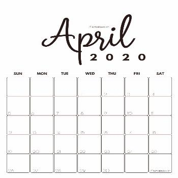 Cute (& Free!) Printable April 2020 Calendar   SaturdayGift Looking for some cute, free printable A