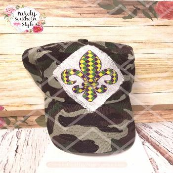 Excited to share this item from my shop: Purple Green And Gold Mardi Gras Fleur De Lis Handmade Ove