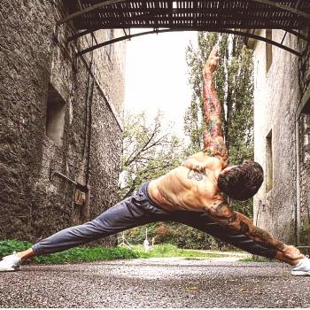 It's a beautiful day  go outside and move your...  ____________ #yogaeverydamnda...