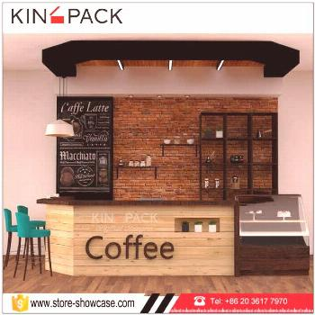 Source Classic modern style wholesale coffee shop display counters cafe bar furniture design on
