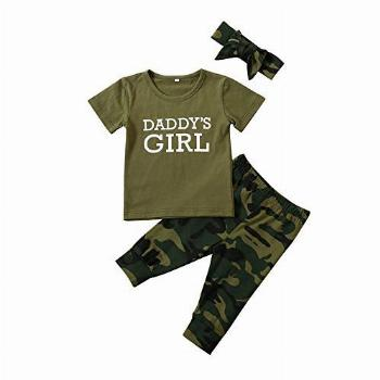 Toddler Baby Boys Girls Camouflage Clothes Spring Outfit