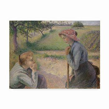 Trademark Fine Art Two Young Peasant Women by Camille