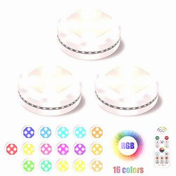 Under Cabinet Lighting, UYICOO 16 Colors RGB Wireless LED