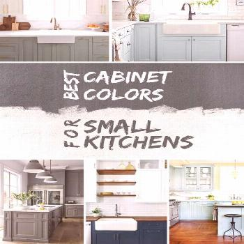 What are the best cabinet colors for a small kitchen? Here's the answer with example