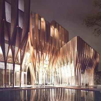 Zaha Hadid's Sleuk Rith Institute Sprouts like a Forest in Cambodia -  Zaha Hadid Architects unveil