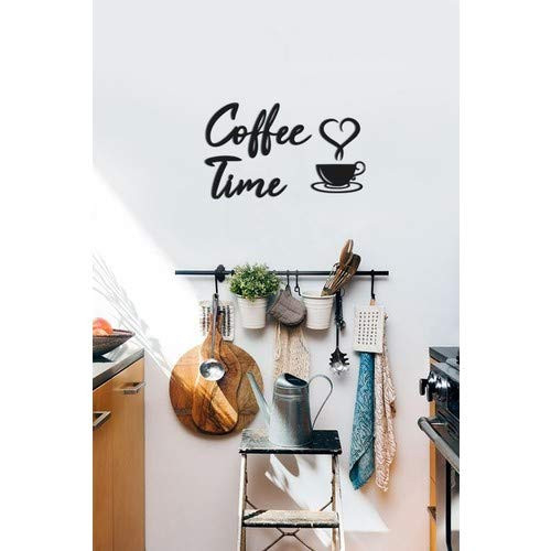4eN Coffee Time Modern Wall Decor for Kitchen and Cafe,