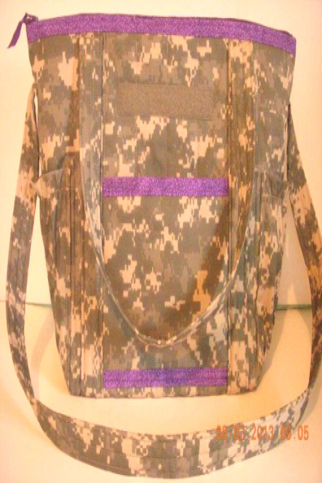 ACU Army Camo Quilted Diaper Bag Overnight or by LoveToSewBags $65.00