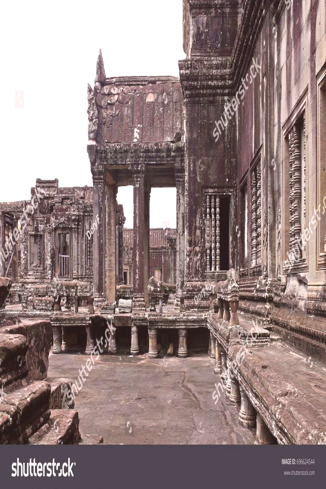 Architecture of apart Angkor Wat Temple (Cambodia) ,
