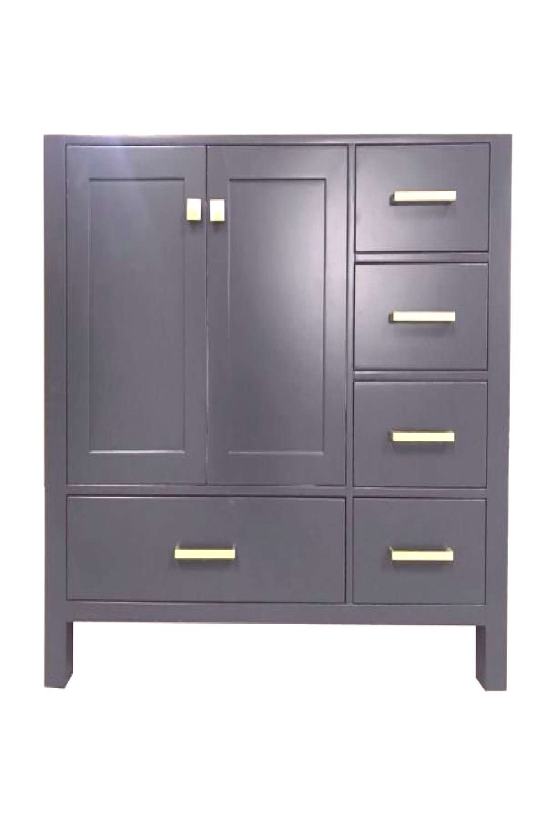 Ariel Cambridge 42quot Midnight Blue Transitional Vanity Base Cabinet A043S-L-BC-MNB#a043slbcmnb