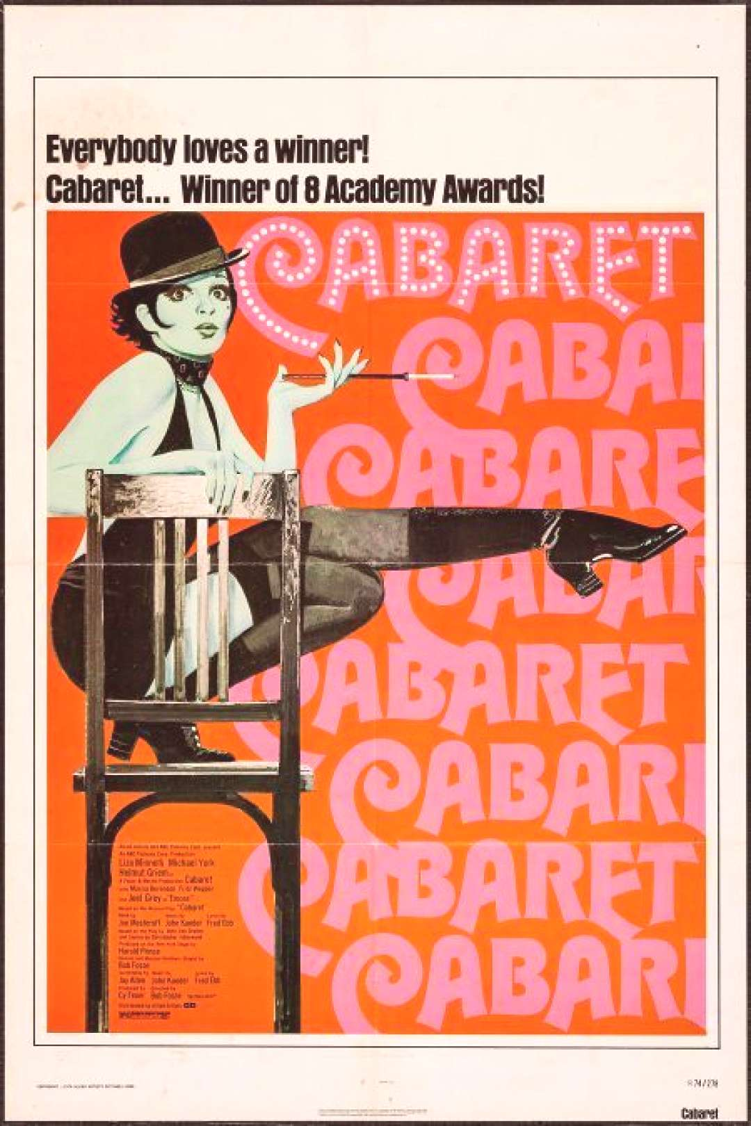 Cabaret (Allied Artists, R-1974). One Sheet (27quot X 41quot). Musical..   Lot ...#allied