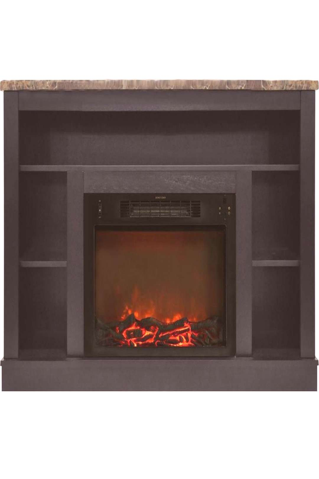 Cambridge 47 In. Electric Fireplace With A 1500W Log Insert And Black Coffee Mantel Cam5021-1... Ca