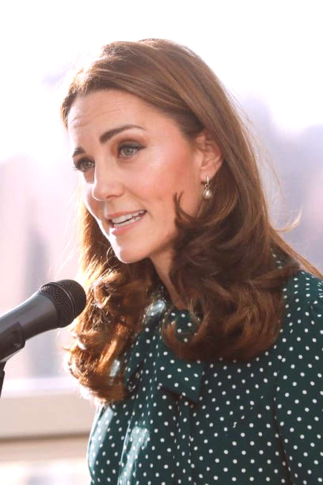 Catherine, Duchess of Cambridge during a visit to Evelina London... - -