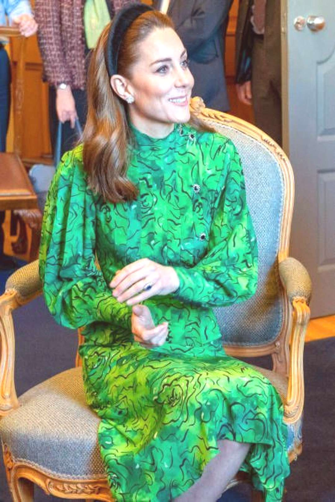 Catherine, Duchess of Cambridge looks on during a meeting with | england history british royals