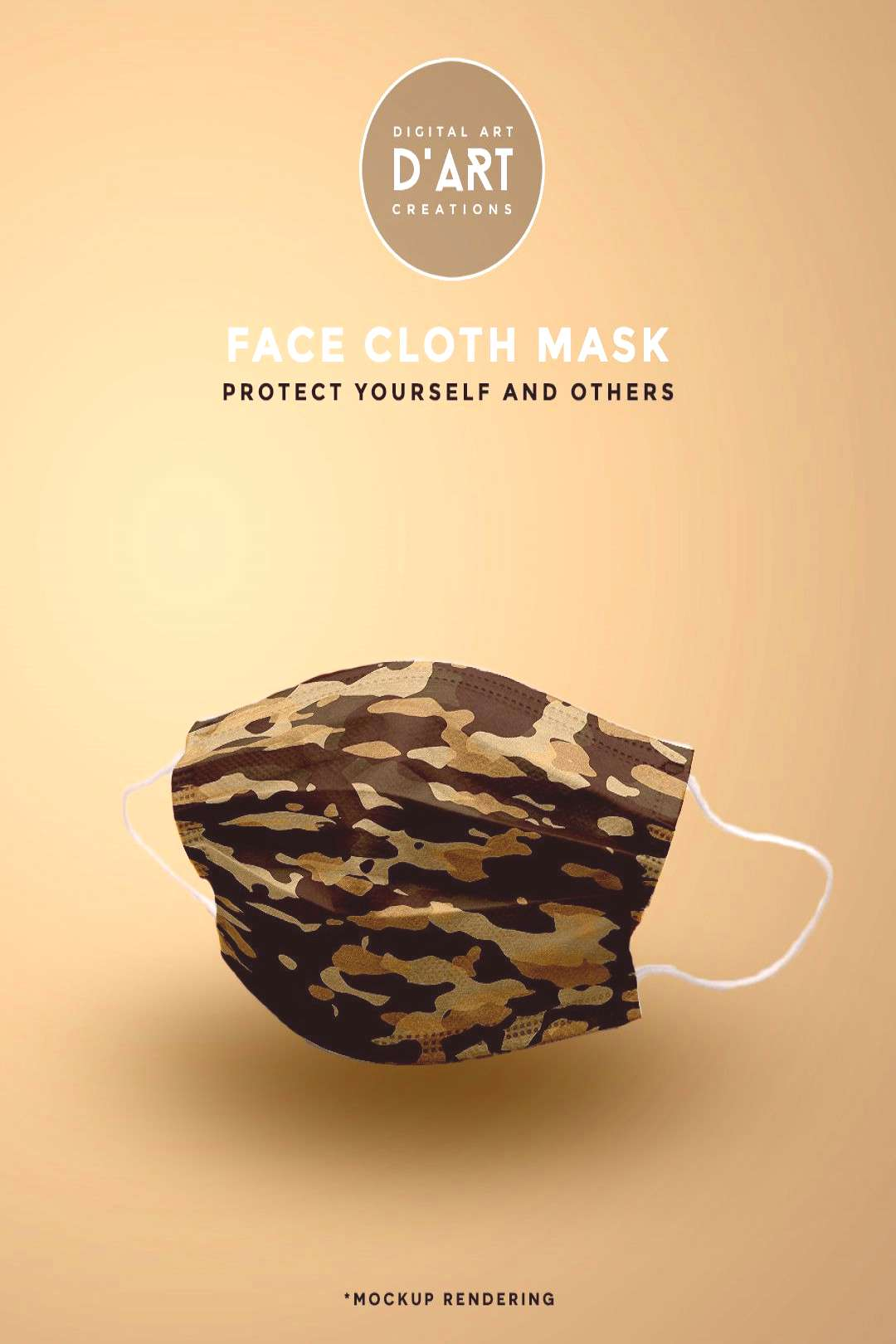 Desert Camouflage A cool and modern take on camouflage. Wear a mask, protect yourself and others...