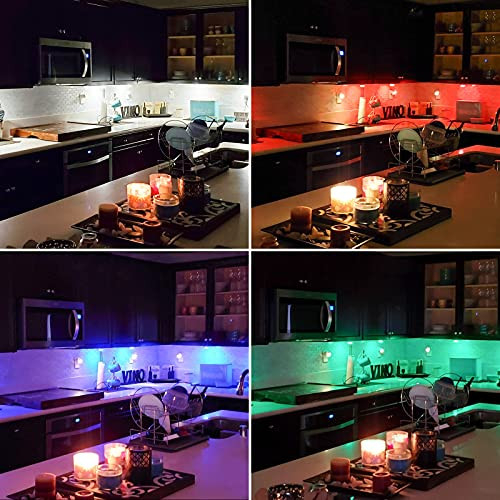 Elfeland Puck Lights with Remote Wireless LED Color Changing