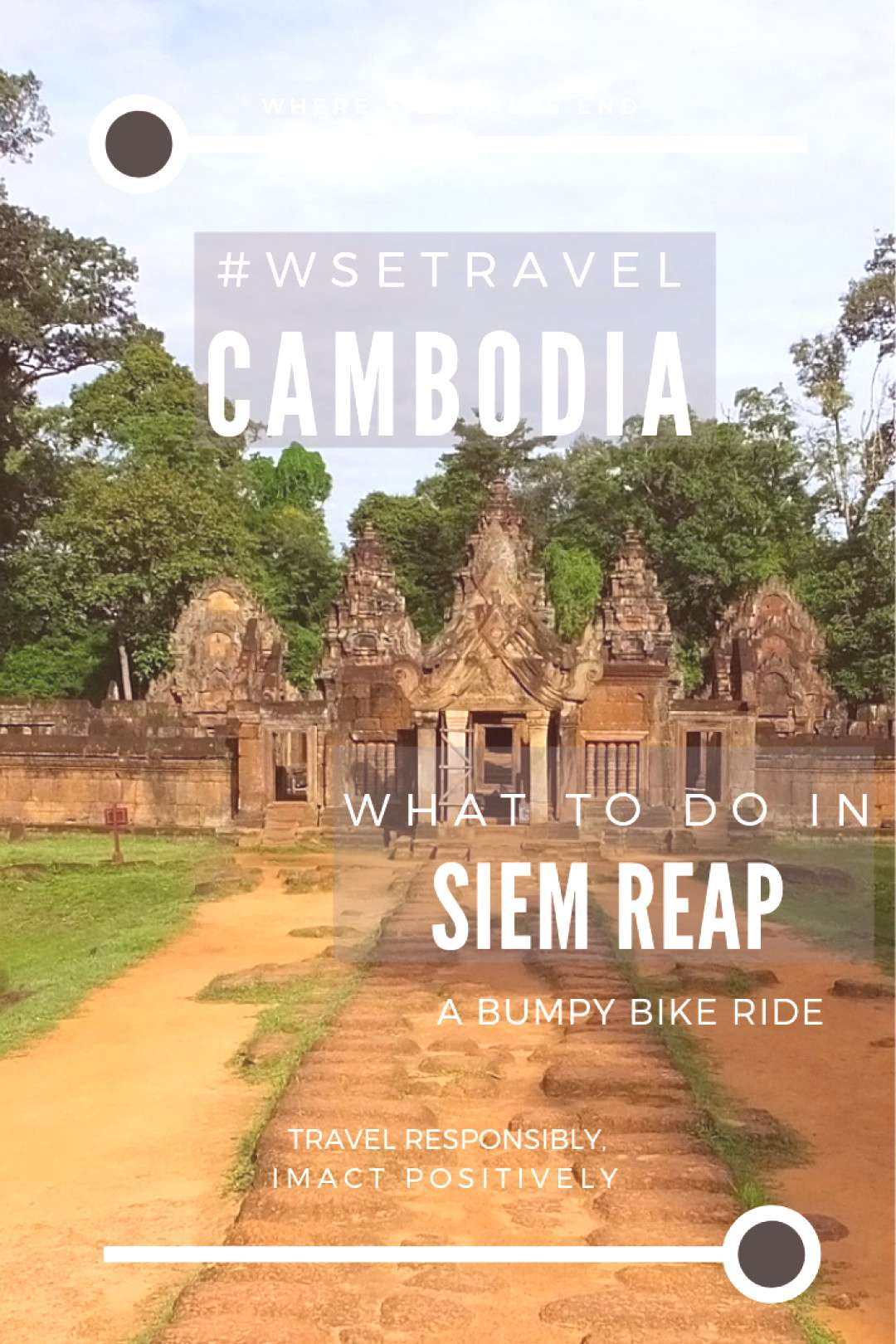 Experience the adventure in Siem Reap Cambodia! Feel freedom while riding a bumpy bike. If youre i