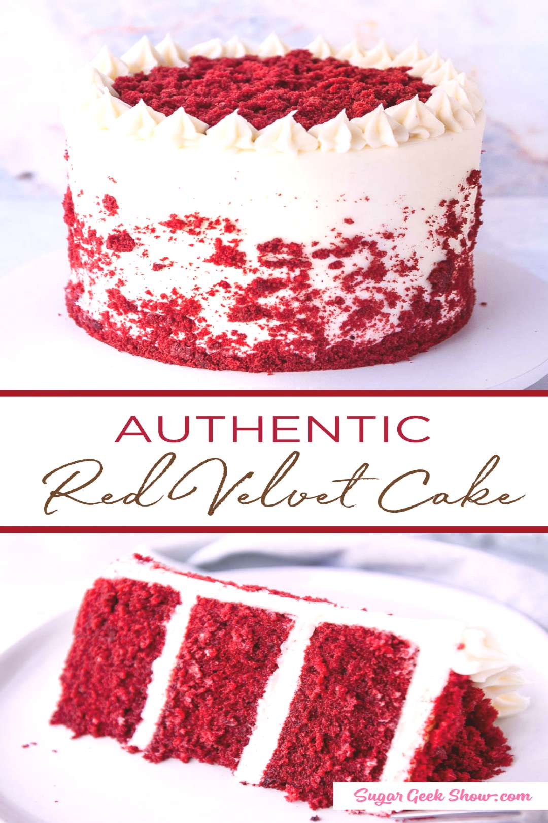 how to make an authentic red velvet layer cake with cream cheese frosting. If youve been wondering