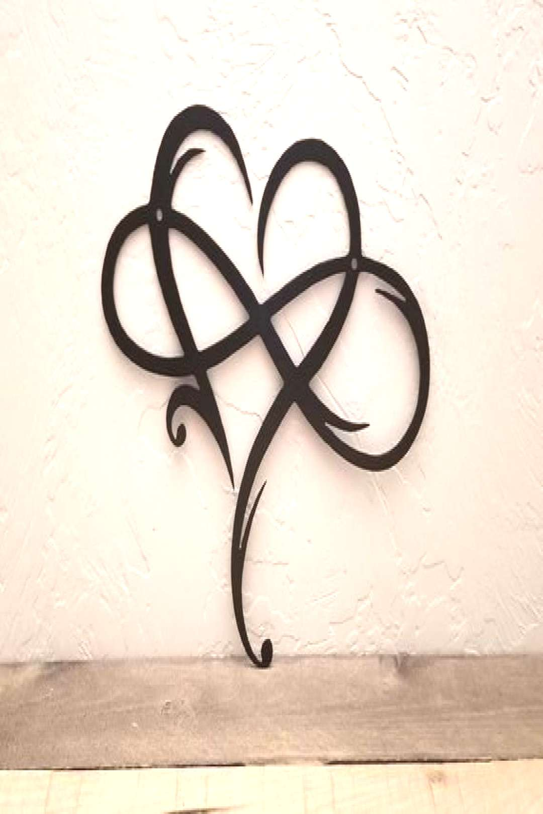 Infinity Heart Metal Sign - Infinity Symbol Metal Wall Art - Love Infinity Sign with Heart Intertwi
