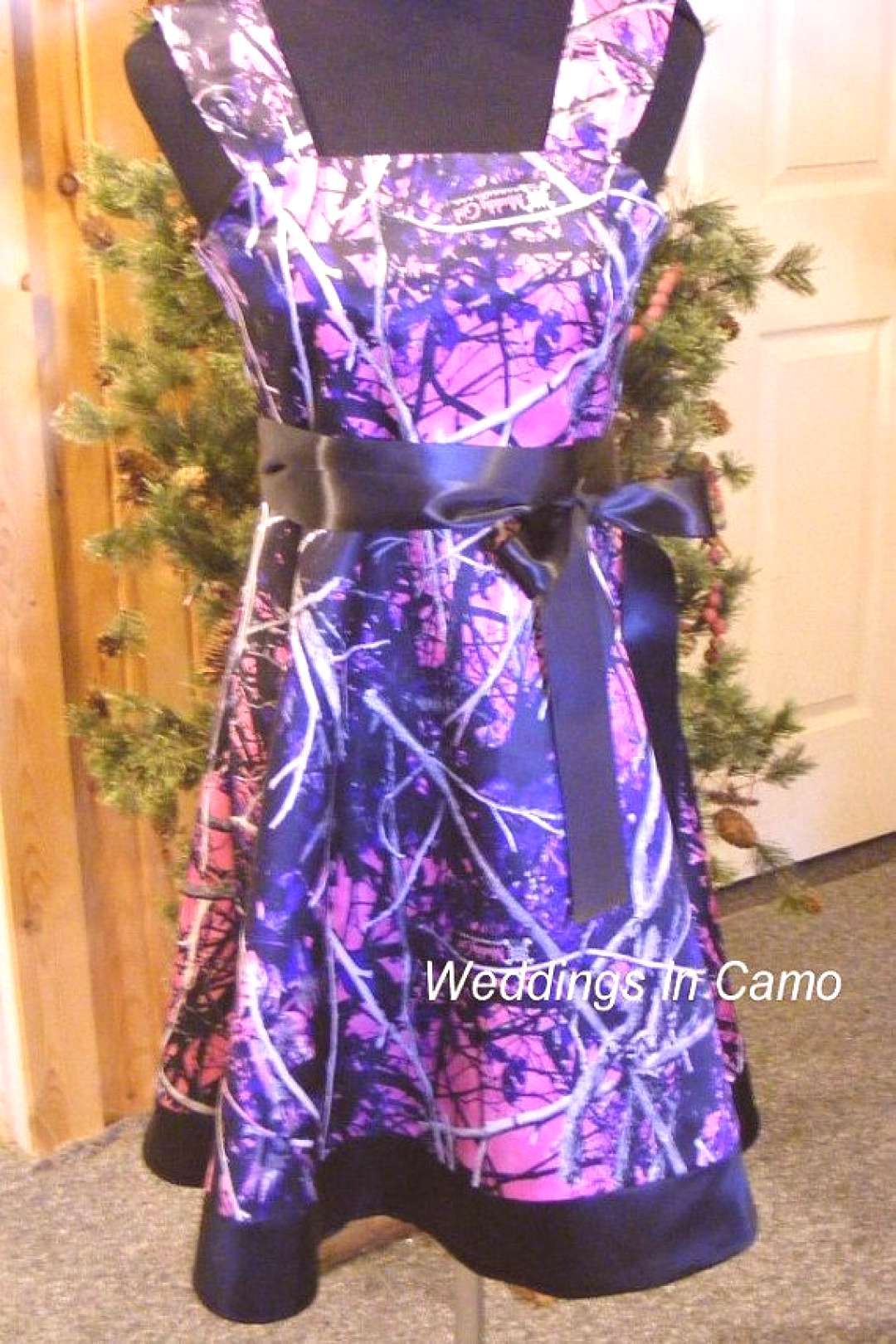 MUDDY GIRL Camo flower girl dress with BORDER Pick your Camo colors for your Country Wedding