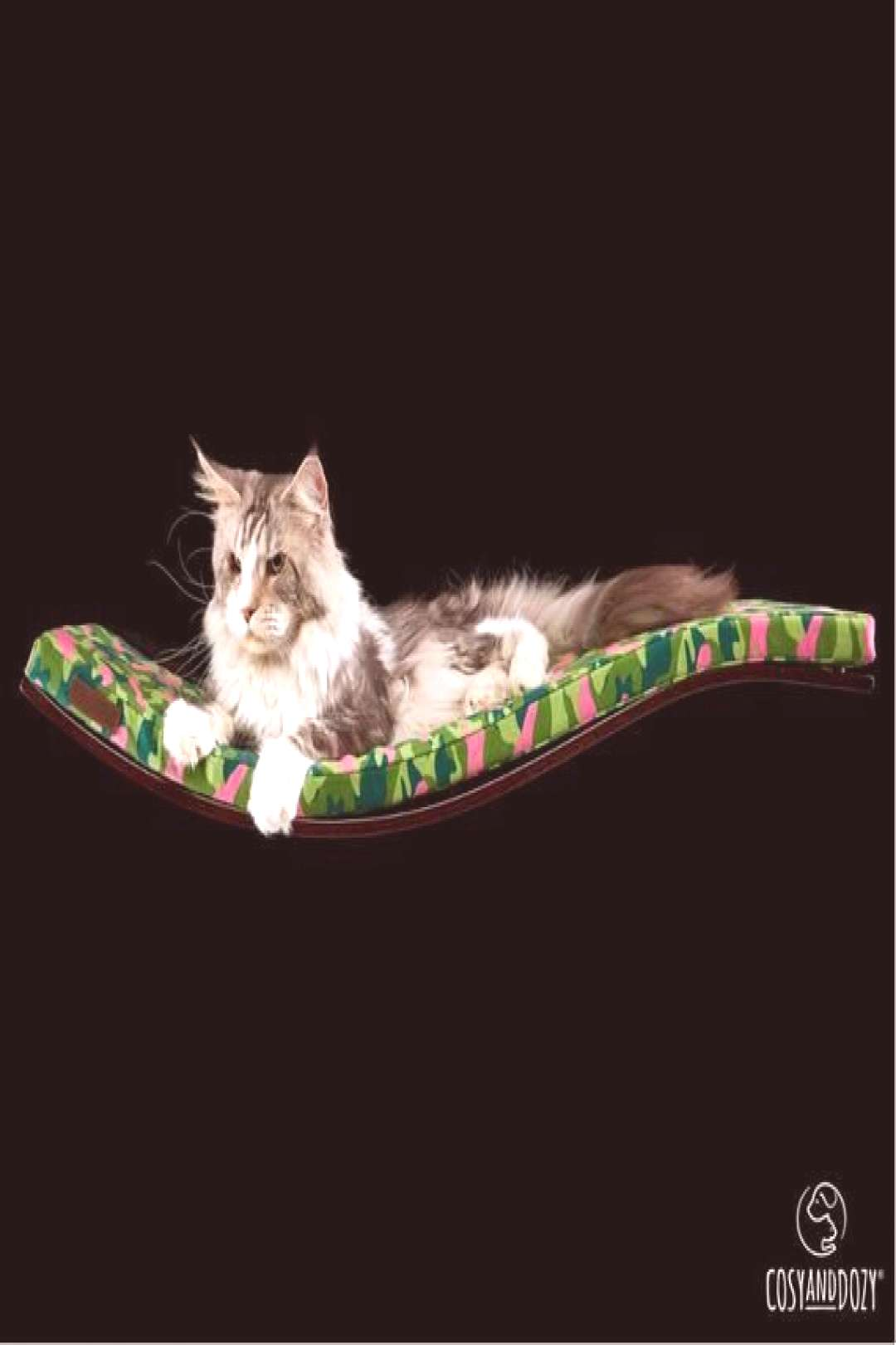 NEW!!! Wall Mounted Cat Bed, Cat Playground, Designer Pet Furniture, PINK CAMO, Wall Mounted ... NE