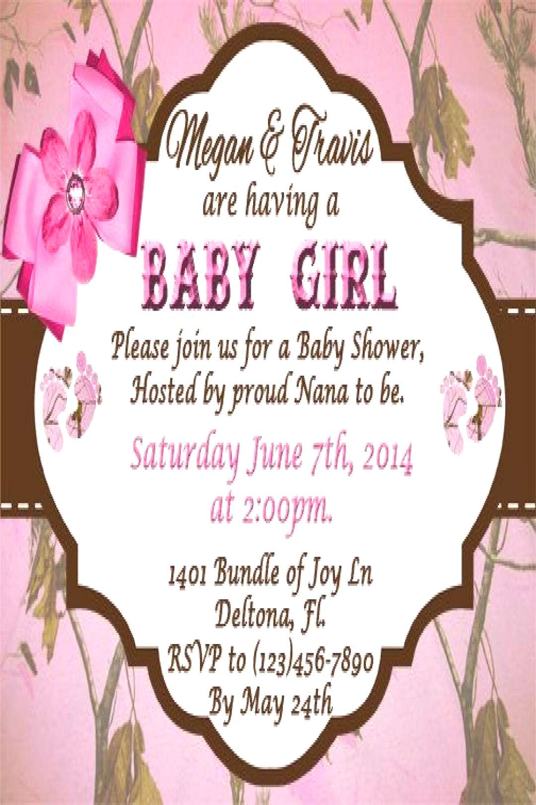 Pink Camo Baby Shower Invitations  with charming design Best The Pink Camo Baby Shower Invitation