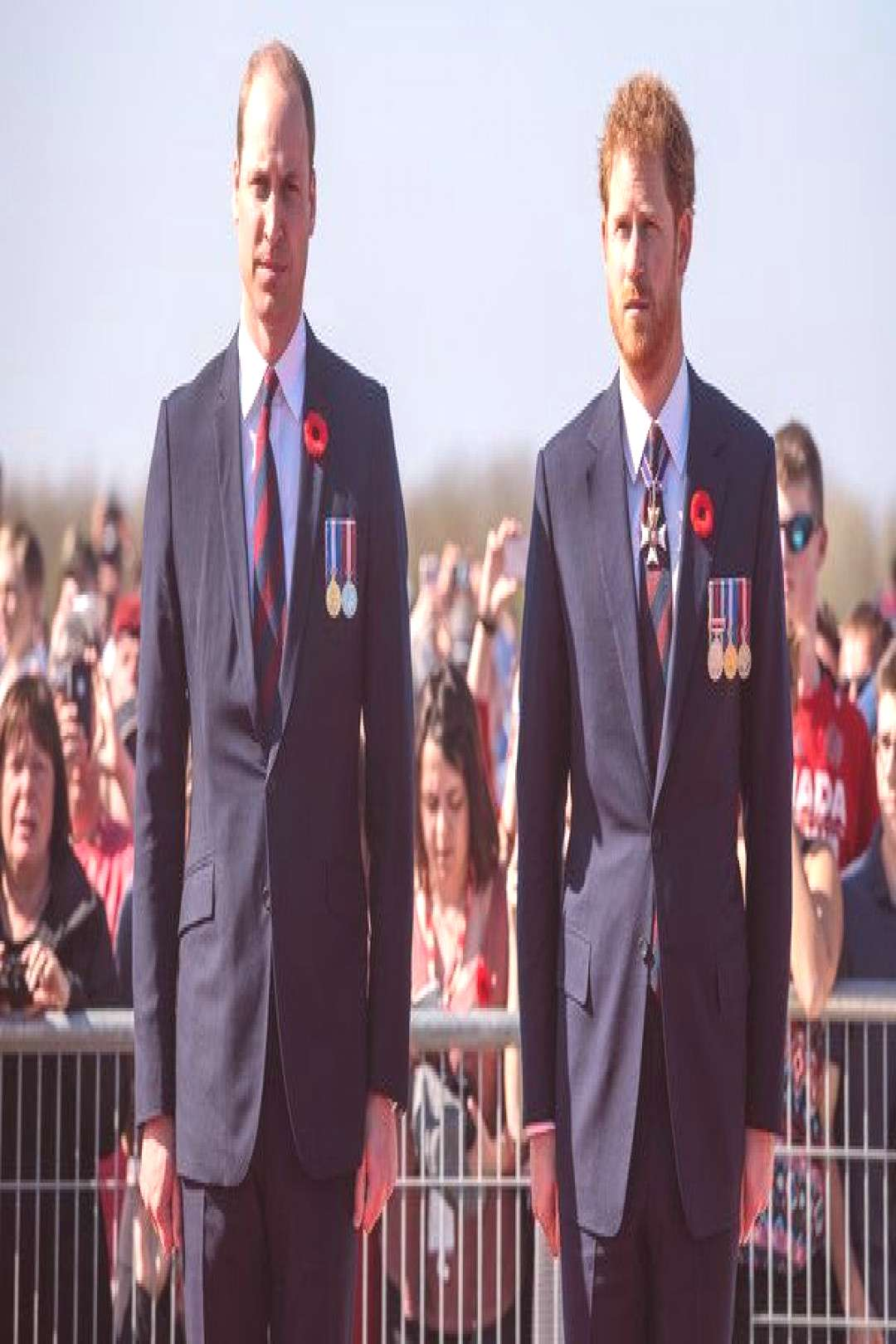 Prince Harry Photos Photos - (L-R) Prince William, Duke of Cambridge and Prince Harry arrive at the