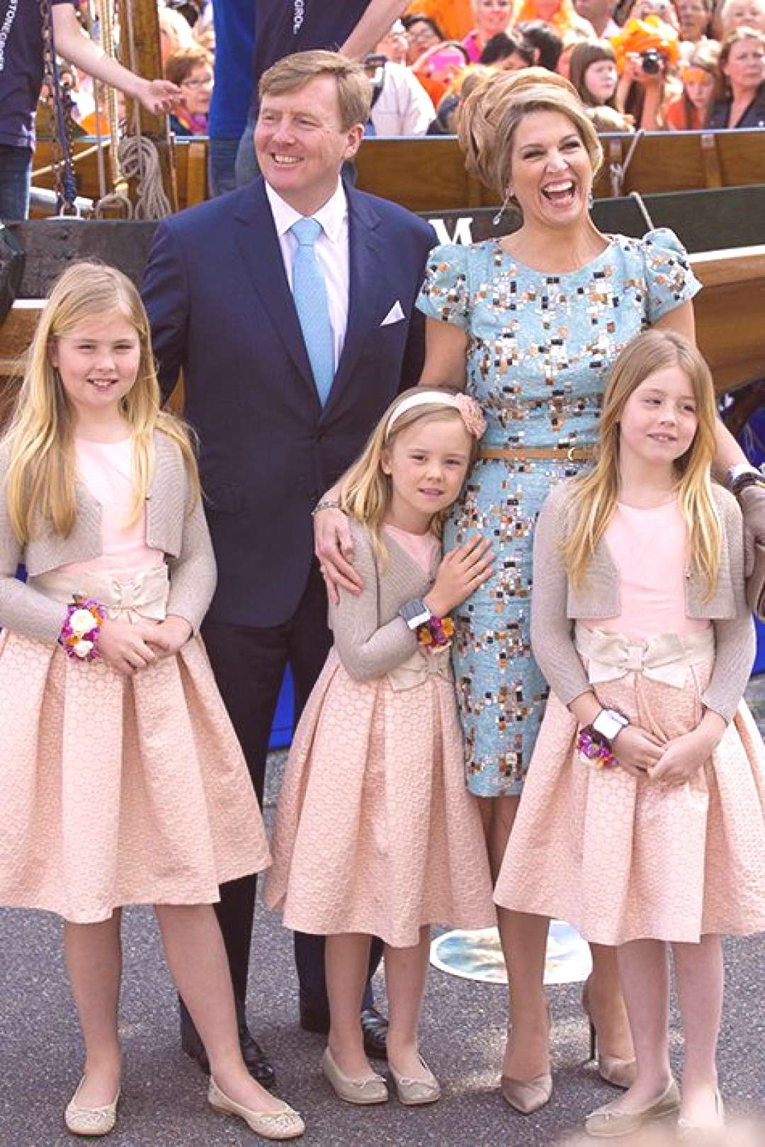 Queen Maxima and King Willem-Alexander of the Netherlands celebrate their first Kings Day - Queen