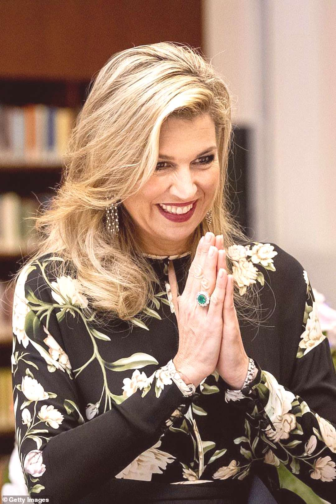 Queen Maxima of the Netherlands puts on a dazzling display Queen Maxima of the Netherlands puts on