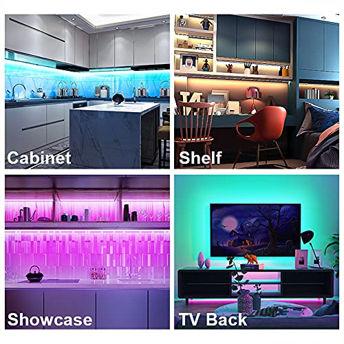 RGB Under Cabinet Lighting 14.3ft, App and Remote Control