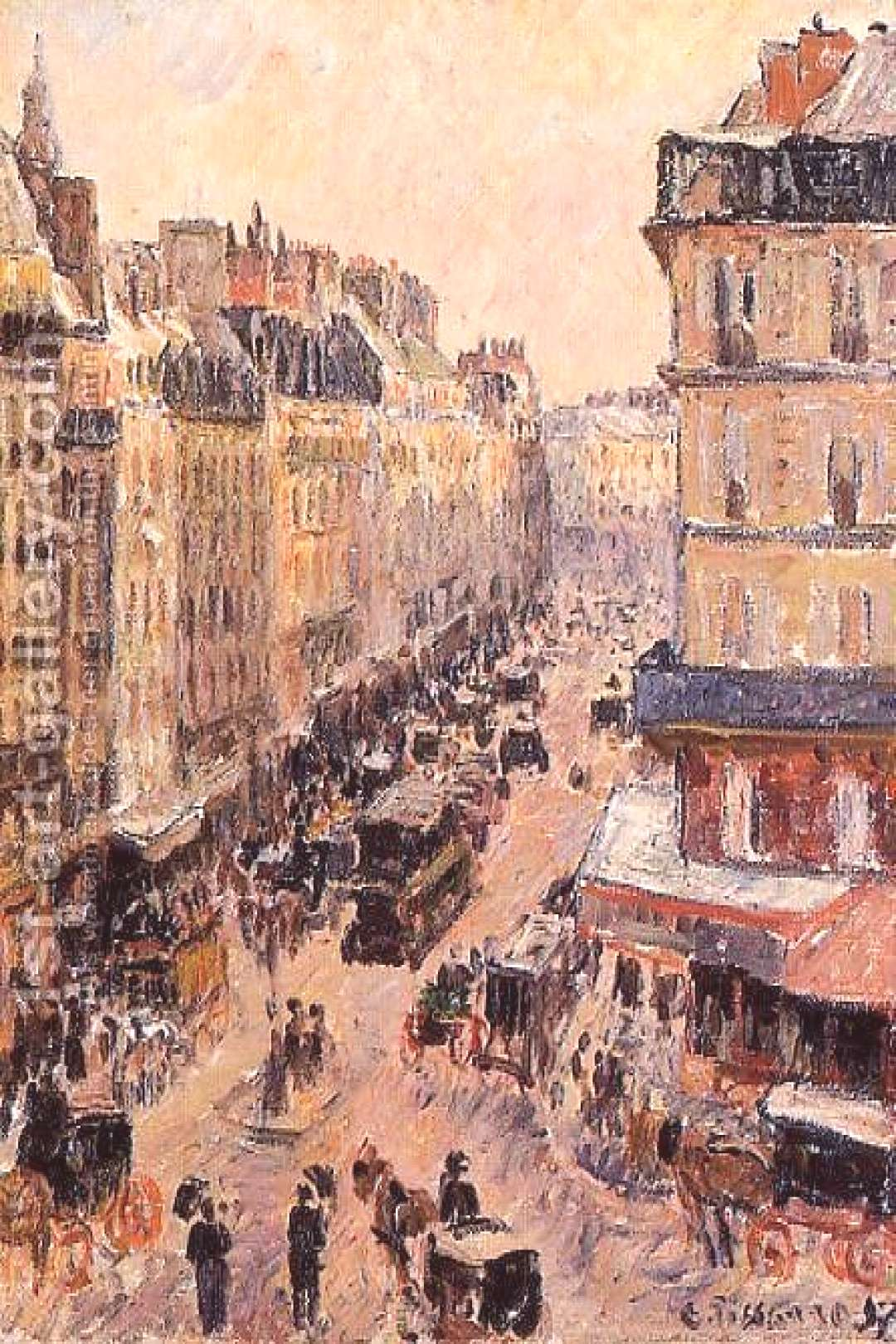 Rue Saint-Lazare Painting by Camille Pissarro Reproduction | 1st Art Gallery