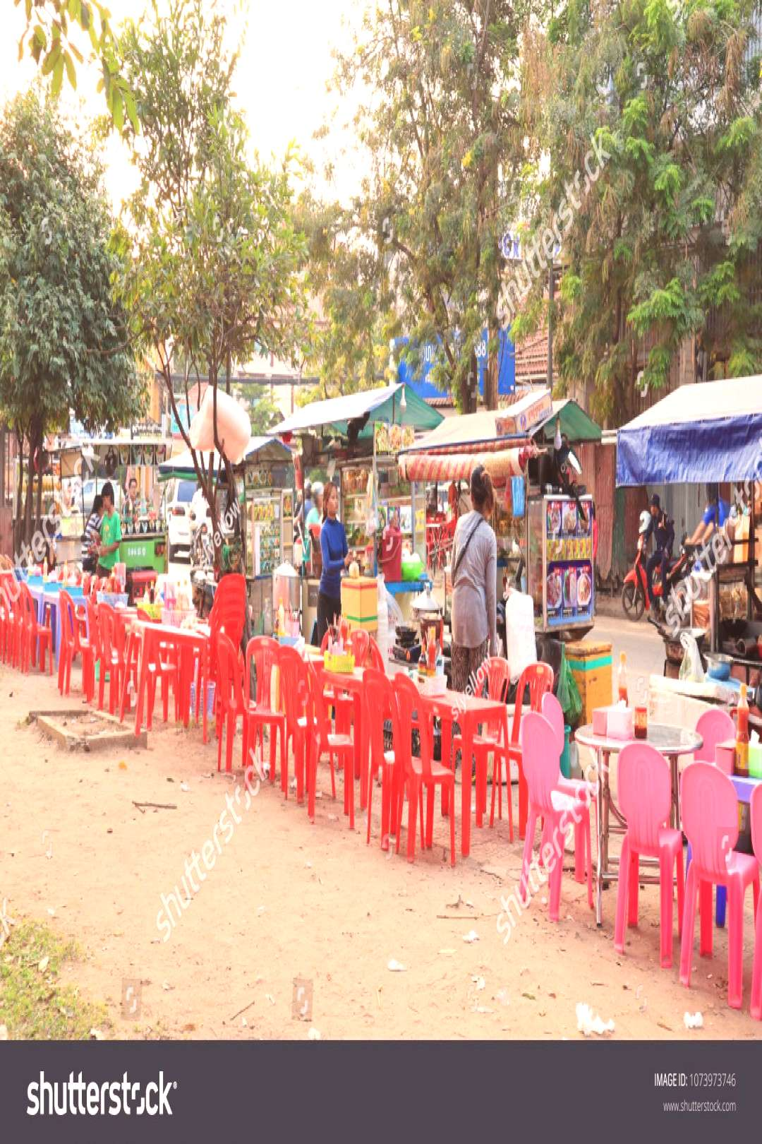 SIEM REAP, CAMBODIA. 2018 Mar 7th. Street View of Siem Reap, At the Daytime. ,
