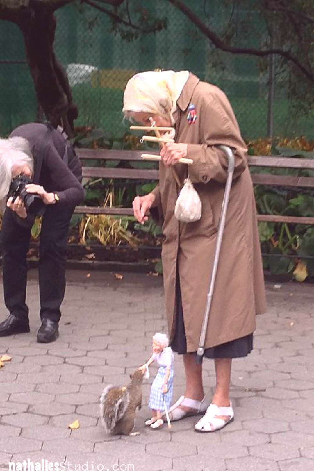 This Grandma Interacts With Squirrels Using A Pint-Sized Version Of Herself! - This Grandma Interac