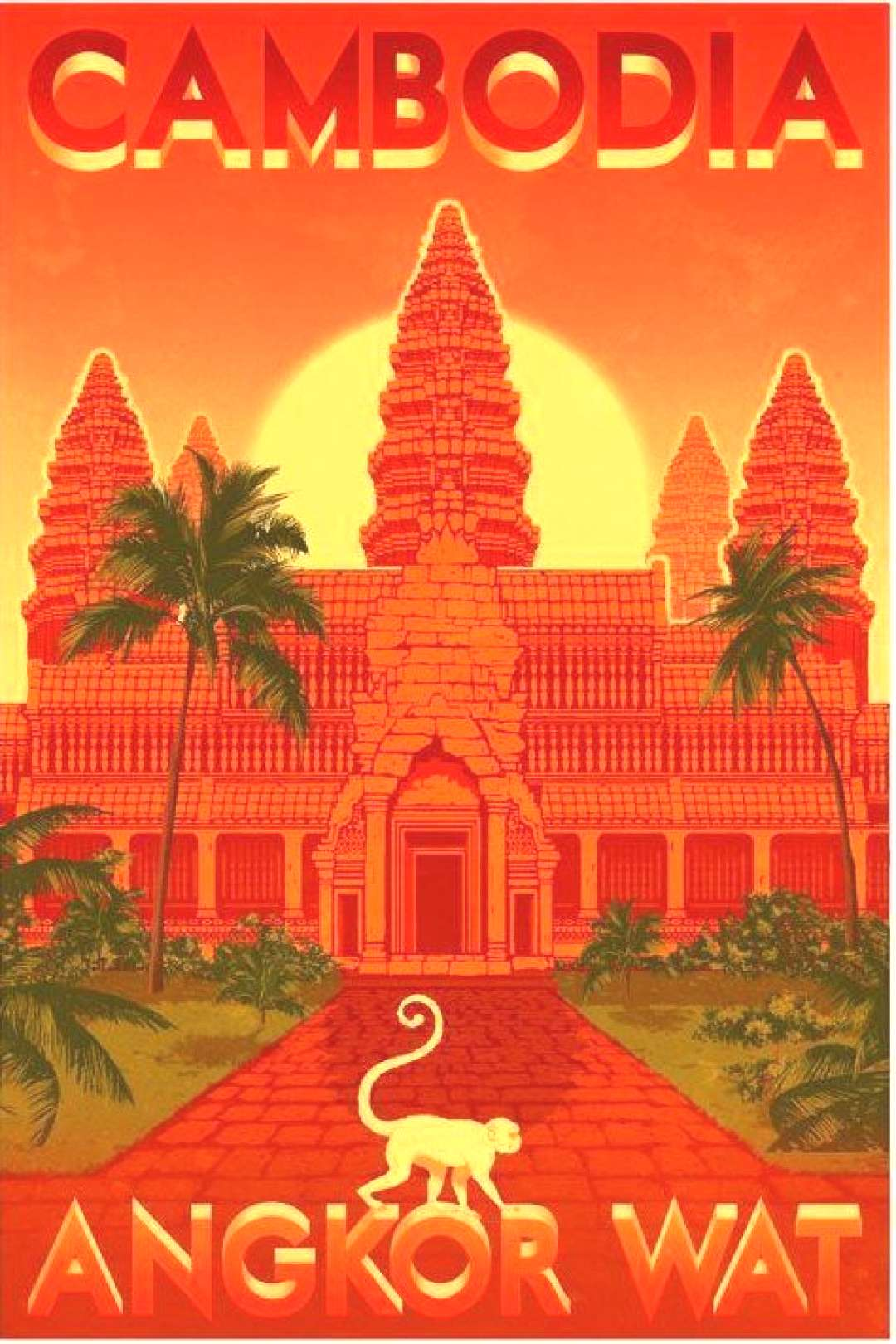 Vintage travel posters of Angkor Wat and Cambodia - Siem Reap Forum - Angkor Wat vintage travel po