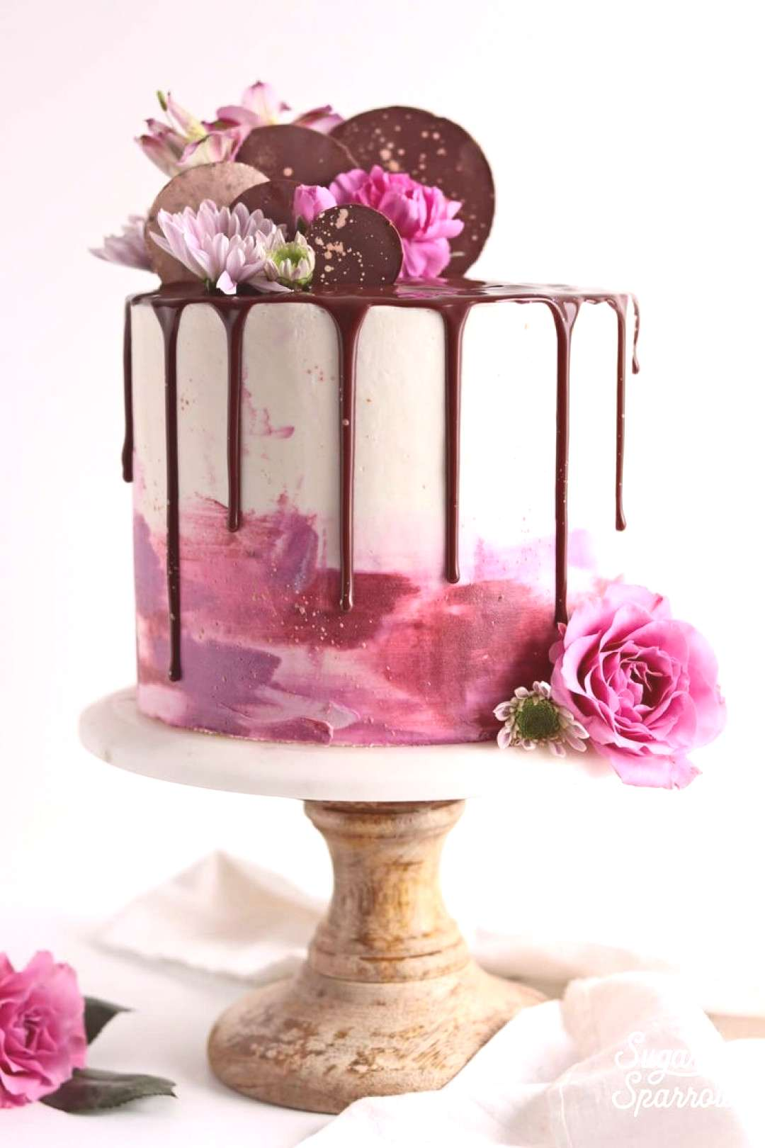 Watercolor Buttercream Drip Cake | A drip cake is so versatile, fun and darn tempting that it�s e
