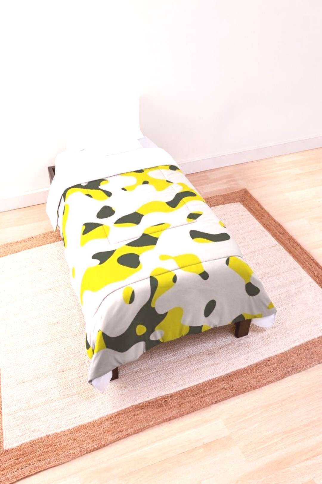 Yellow Camo Comforter by kcstudio Check out this cool yellow and white camo pattern! It is edgy,